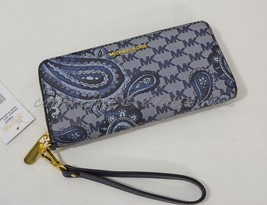 NWT Michael Kors Paisley Jet Set Travel Continental Wallet / Wristlet in... - £112.67 GBP