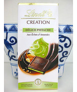 LINDT PISTACHIO Dark Chocolate Bar CREATION DELICE PISTACHIO with Almond... - $9.99