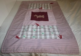 Hand Tied Scottie Dog QUILT Scottish Terrier Red Gingham Nursery Baby Bl... - $31.90