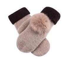 Woollen Gloves Lovely Warm Fingerless Gloves Fashionable Mitten for Women,KHIKA