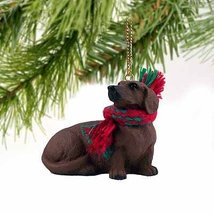 Dachshund Miniature Dog Ornament - Red - $10.99