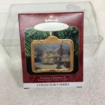 1999 Thomas Kinkade #3 Victorian Hallmark Christmas Tree Ornament MIB Ta... - $12.38
