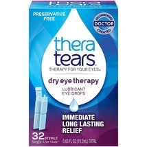 Thera Tears Dry Eye Therapy Lubricant Eye Drops Single-Use, 32 Count - $15.29