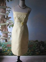J.Crew Yellow Spaghetti Strap Cocktail 100% Silk Dress Size 4 New without Ticket - $43.56