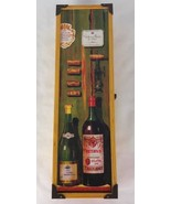 Vintage Wine gift  box wood Hinged with Clasp  - $13.01