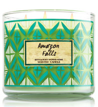 Bath & Body Works Amazon Falls Three Wick 14.5 Ounces Scented Candle - $22.41