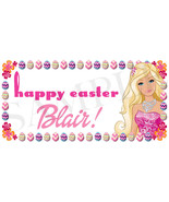 Barbie Easter Basket Sticker, Waterproof and Personalized - $3.25+