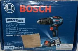 BOSCH GSB18V 490B12 18V Brushless Hammer Drill Driver Kit with Battery image 1