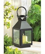 Medium Americana Revere Matte Black Candle Lantern - $30.53