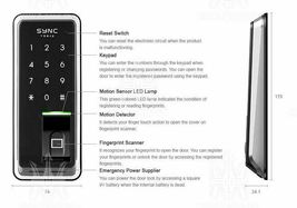 Fingerprint Doorlock H-GANG SYNC TR810 TR811 TR812 Keyless Lock Smart Digital image 3