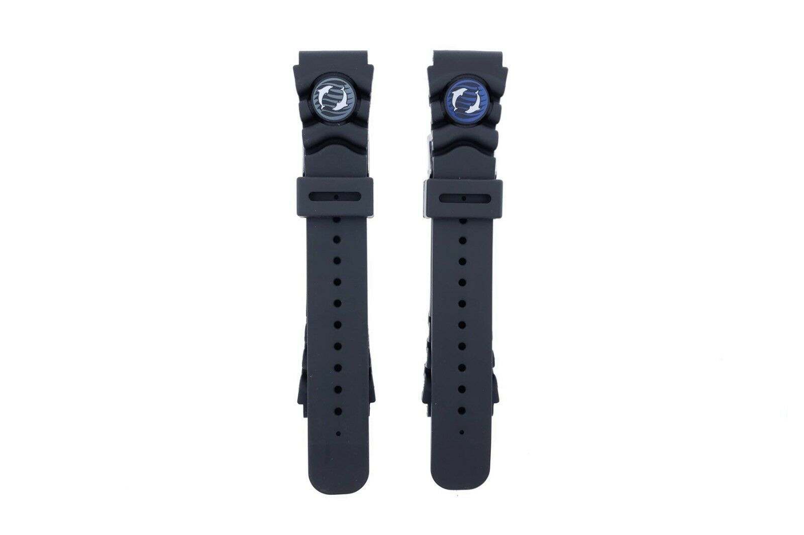 Primary image for OEM Orient Watch Mako Rubber Diver Strap Blue Dolphin (Mako II)
