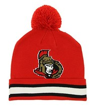 NHL Ottawa Senators Youth 8-20 Cuffed Knit Hat with Pom, One Size, Red - $12.70