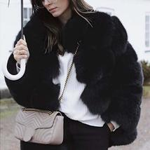Women's Winter Luxury Fashion Faux Fur Shaggy Thicken Warm Coat image 9