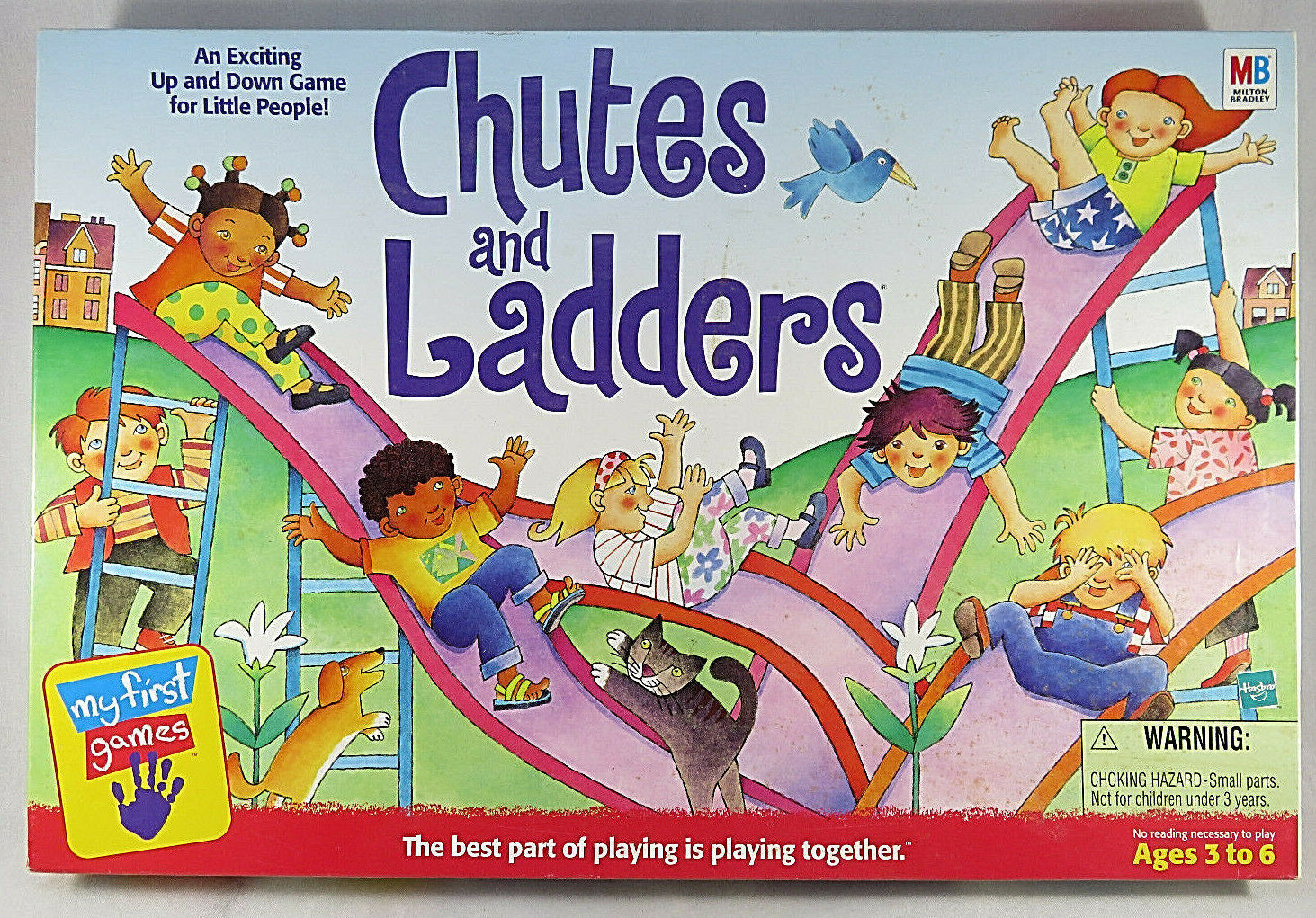 Primary image for Vintage Chutes And Ladders Game 1999 MY FIRST GAME Milton Bradley Hasbro
