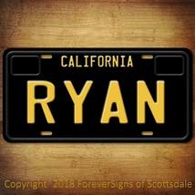 Ryan California Name License Plate Aluminum Vanity Tag - $16.82