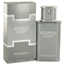 Kouros Silver by Yves Saint Laurent Eau De Toilette Spray 3.4 oz (Men) - $51.20