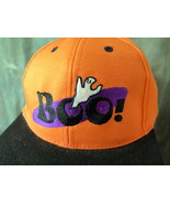 BOO!  with Ghost/ Stitched Orange Baseball cap 100% Cotton - $5.00