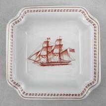 Copeland Spode Ashtray Brig Olive of Newbury Red Ship Trade Winds Trinket Dish - $24.75