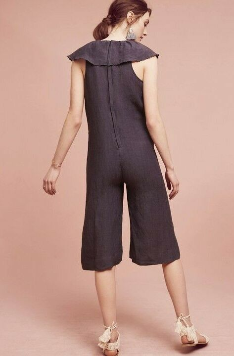 New Anthropologie Cascada Jumpsuit by Maria Stanley NWT $118 SMALL Blue