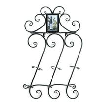 Wall Mounted Wine Rack, Modern Black Metal Wall Wine Rack Holder - $42.99