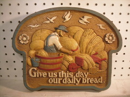 """""""Give Us This Day Our Daily Bread"""" Burwood Christian Kitchen Wall Plaque... - $8.33"""