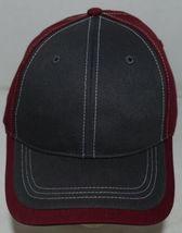 Richardson Contrast Stitching Maroon Charcoal Style 275 Baseball Hat Adjustable image 4