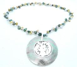 VTG MERAS .925 Mexico Sterling Silver MultiColor Fresh Water Pearl Abalo... - $37.13