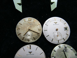 4 WITTNAUER MOVEMENTS AND DIALS FOR PARTS 11B,C11BG,C11WS2,763G REVUE GO... - $169.32