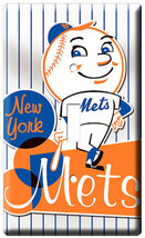 New York Mets Ny Baseball Mlb Single Light Switch Plate Game Tv Room Decoration - $8.99