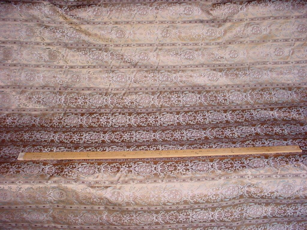 7Y LEE JOFA METALLIC SAGE GOLD ROMANESQUE FLORAL SILK UPHOLSTERY FABRIC