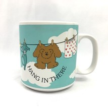 Vintage Russ Berrie Mug Hang In There Bear Clothes Clothesline Underwear... - $19.75