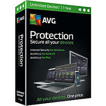 AVG Protection Unlimited Devices 1 Year Activat... - $29.99