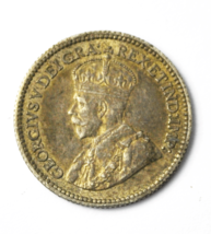 1913 Canada 5c Five Cents Silver Coin Half Dime KM# 22 - $19.79