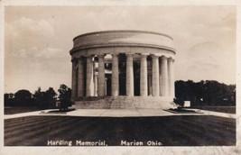 Harding Memorial Marion Ohio OH Real Photo Postcard RPPC Unused Harding ... - $2.99