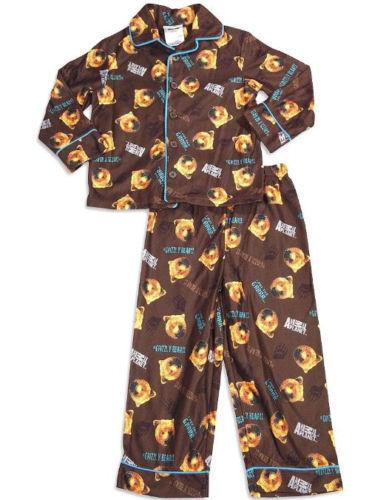 Toddler Boy's Animal Planet Pajamas Sleepwear 2-Piece Set Grizzly Bear NEW