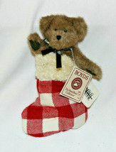 """Retired Boyds Bears 8in """"Mickelby Woolbeary"""" Style #904464 in Red White Stocking - $26.11"""