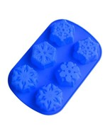 6 Even Snowflakes Silicone Cake Mold - $7.14