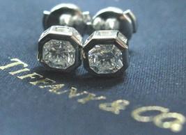 Tiffany & Co Platinum Lucida Diamond Bezel Set Stud Earrings 1.24Ct E-VVS2 - $12,919.50