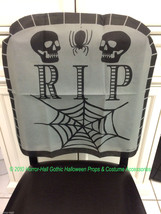 Haunted House-RIP SKULL TOMBSTONE CHAIR COVER-Over the Hill Birthday Dec... - $3.93