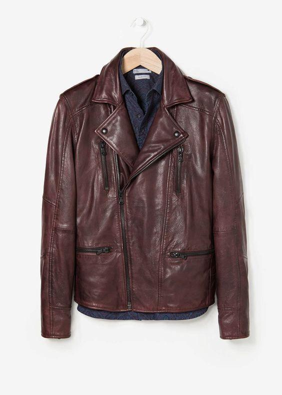 New Men's Genuine Lambskin Leather Jacket  Slim fit Biker Motorcycle jacket-G27
