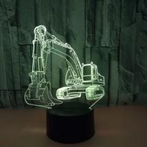 [DBF]3D Lamp Excavator Night Light Illusion Led Table Lamp 7 Colors USB ... - €20,11 EUR