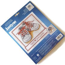 Janlynn Baby Shoes Counted Cross Stitch Kit Boy Girl Name Birthday New Sealed - $24.70