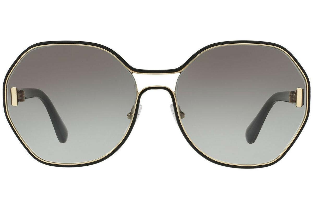 NEW PRADA Geometric Oversize Women's Sunglasse Pale Gold PR 53TS 1AB0A7