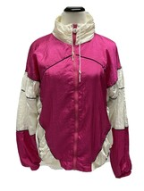 Vintage Olympic Exposure women's jacket 80' 90' zipper front pink white ... - $33.12