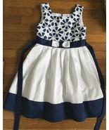 ! Jona Michelle Navy flower White Fancy Party Dress Sizes 8 & 10 girl - $14.99