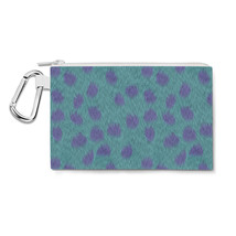 Sully Fur Monsters Inc Disney Inspired Canvas Zip Pouch - $15.99+