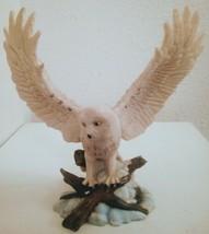 """Snowy Owl Taking Flight Statue Sculpture Wildlife Figurine 8"""" - $69.29"""
