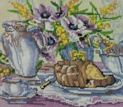 Floral Needlepoint Kit Lilac Margot de Paris Bouquet Vase PROJECT MultiC... - $17.95