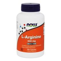 NOW Foods L-Arginine 500 mg., 100 Capsules - $10.89