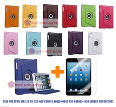 360 Rotating Smart Leather Case Cover with stand for iPad Air 1 1st & 2 ... - $11.15+